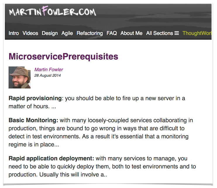Calçados Microservices Prerequisites - Architecture prerequisites